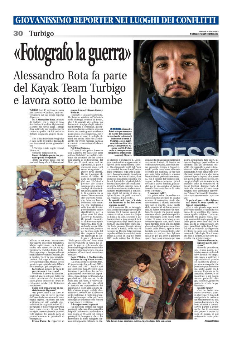 Alessandro Rota  Kayak Team Turbigo
