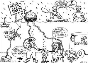 l'angolo del vignettista.. (part. 1- HAMMER CREW PARTY-)